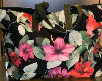 D&G Dolce and Gabbana Large Bag with Floral Pattern