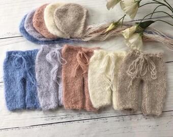 Newborn Pant and Bonnet Set