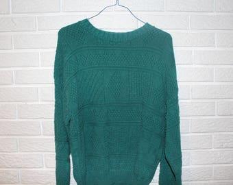 VINTAGE//THRIFTED John Weitz Textured Cotton Sweater