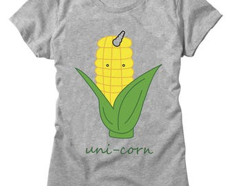 Unicorn Uni Corn Cob With Horn Women's T-shirt