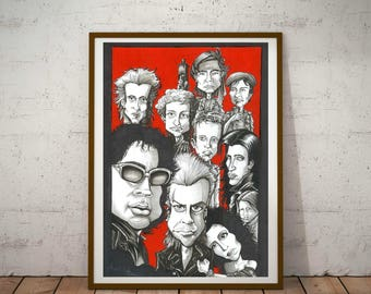 The Lost Boys, A3 Eco Friendly, Cult Caricature Poster/Print