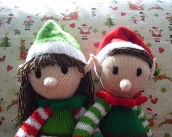 christmas elves - boy and girl