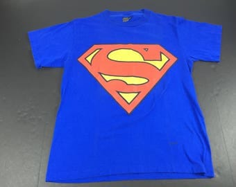 Vintage 1997 Superman shield logo t-shirt mens M comic book super hero