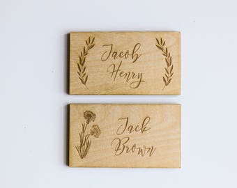 Wood Place Cards