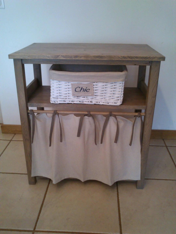 Petit meuble de salle de bain en bois for Petit meuble bois salle de bain