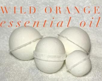 Wild Orange Essential Oil Bath Bomb