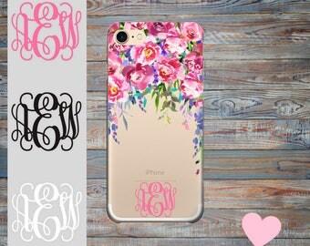 iPhone 7 Case Monogram iPhone 7 Plus Case, Custom Name iPhone 6 Case, 6 Plus, 5s, 5, SE iPhone Case, Personalised Gift.
