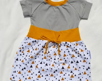 Dress evolutionary baby child toddler baby kid grow with me dress diaper