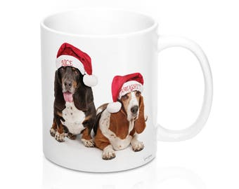 Coffee Mug - Photos Of Basset Hound Dogs On Santa'S Nice And Naughty List