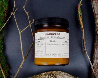 Firewood Scented Natural Soy Wax Candle
