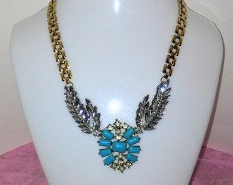 Crystal Turquoise Necklace Faith