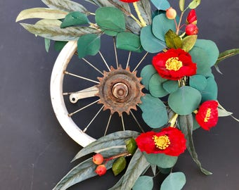 Mini Bike Wheel Wreath