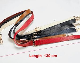 Strap you Real leather Purse Strap Replacement Strap bag handbag strap Shoulder bag Strap black red blue Coffee leather strap 130*3.1cm