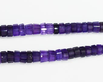 AAA Quality Natural Amethyst Tyre Shape Faceted / 8.0-10.0 mm / 16 inch