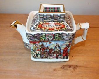 Collectible Vintage Sadler Bonnie Prince Charlie and Culloden Ceramic Teapot