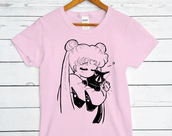 SAILOR MOON - anime, Usagi, Luna, kitty cat, Serena