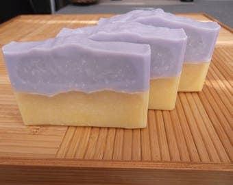 Lemongrass Cold Process Soap 4.0 oz.; Artisanal Handmade soap; Lemongrass Soap