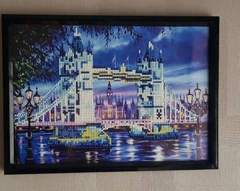 "VT - Diamond part Painting ""Bridge"" painting"