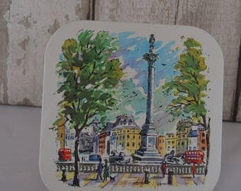 Vintage Scenes of London Squares Placemats , London Landmarks Tablemats