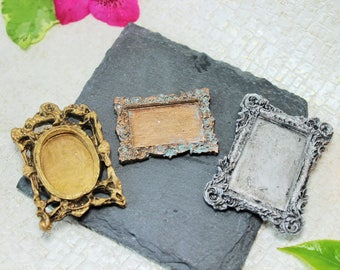 miniature frames place markers name plates placard drawer labels apothecary label - Miniature Frames