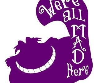 Cheshire Cat - Alice in Wonderland - Vinyl Decal