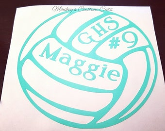 Volleyball Decal Etsy - Custom volleyball car magnets