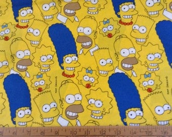 The Simpsons cotton fabric by the yard