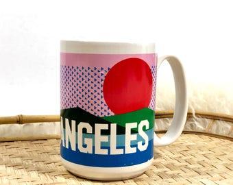 Vintage Los Angeles Mug, Sisters of Los Angeles
