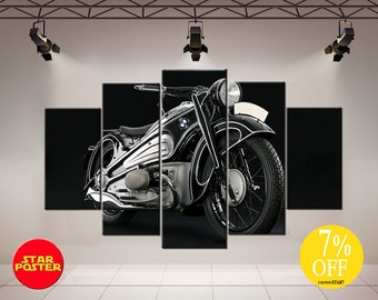 Beau Motorbike Wall Art, Motorbike Wall Decor, Motorbike Canvas, Motorbike  Print, Motorcycle Wall