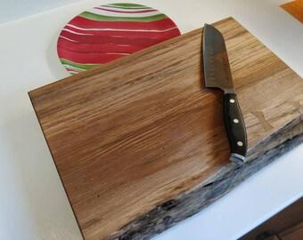 Hand made live edge cutting board.