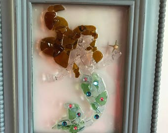 Handcrafted sea glass mermaid