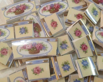 BRoKeN CHiNa MoSAiC TiLeS~~Bouquets of Summer Florals