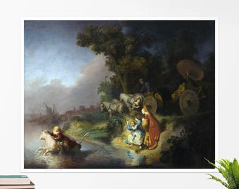 "Rembrandt, ""The Abduction of Europa"". Art poster, art print, rolled canvas, art canvas, wall art, wall decor"