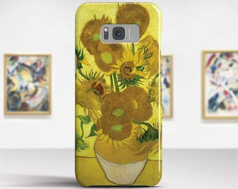 "Vincent van Gogh, ""Sunflowers"". Samsung Galaxy S8 Case LG V30 case Google Pixel Case Galaxy J7 2017 Case and more. Art phone cases."
