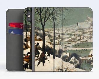 "Pieter Bruegel, ""Hunters on the Snow"". iPhone X Wallet case iPhone 8 Wallet case  iPhone 7 Plus Wallet case. Samsung Wallet cases."