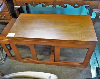 Mid-Century Teak Folding Top Nest of Tables