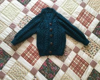 Handmade Aran Baby Cardigan