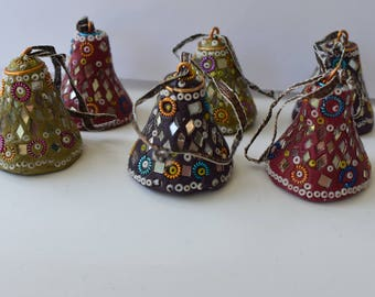 Bell ornaments made in India vintage