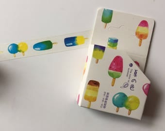 Ice Lolly Popsicle Washi Tape