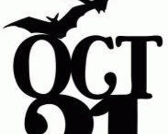 October 31st Bats Horror Halloween Vinyl Car Decal Bumper Window Sticker Any Color Multiple Sizes Merch Massacre