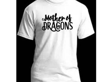Mother of Dragons Khaleesi Game of Thrones Unisex T Shirt Many Sizes Colors Custom Horror Halloween Merch Massacre