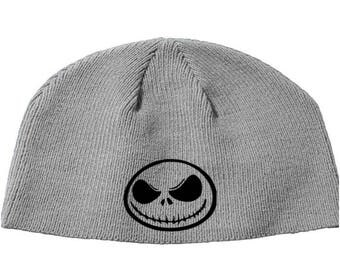 Nightmare Before Christmas Jack Skellington Beanie Knitted Hat Cap Winter Clothes Horror Merch Massacre Christmas Black Friday