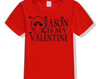 Friday the 13th Jason Voorhees Valentine's Day T Shirt Clothes Many Sizes Colors Custom Horror Halloween Merch Massacre