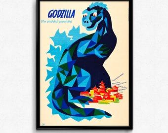 Polish Godzilla Film Poster - 1957