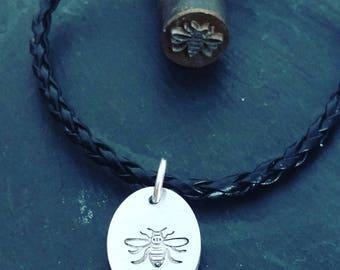 Manchester Bee, worker bee,  charm bracelet