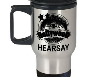 Hollywood Hearsay Travel Mug - 14oz Stainless Steel Tumbler For Your Favorite Cold or Hot Beverage