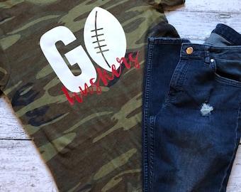 Go Huskers Shirt / Football Shirt / Nebraska Shirt / Huskers Shirt / Graphic Tees / Huskers Football Shirt / Graphic T-Shirt / Nebraska Tee