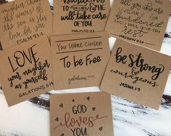 7 Pack of Bible Verse Cards