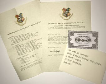Personalised Hogwarts Acceptance Letter | Harry Potter Letter | Sealed with Real Wax