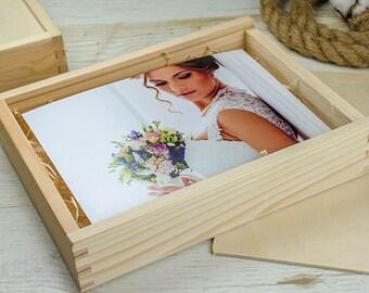 6x8 print box | 6x8 photo box for photos and USB drive (21x15 cm photo packaging)